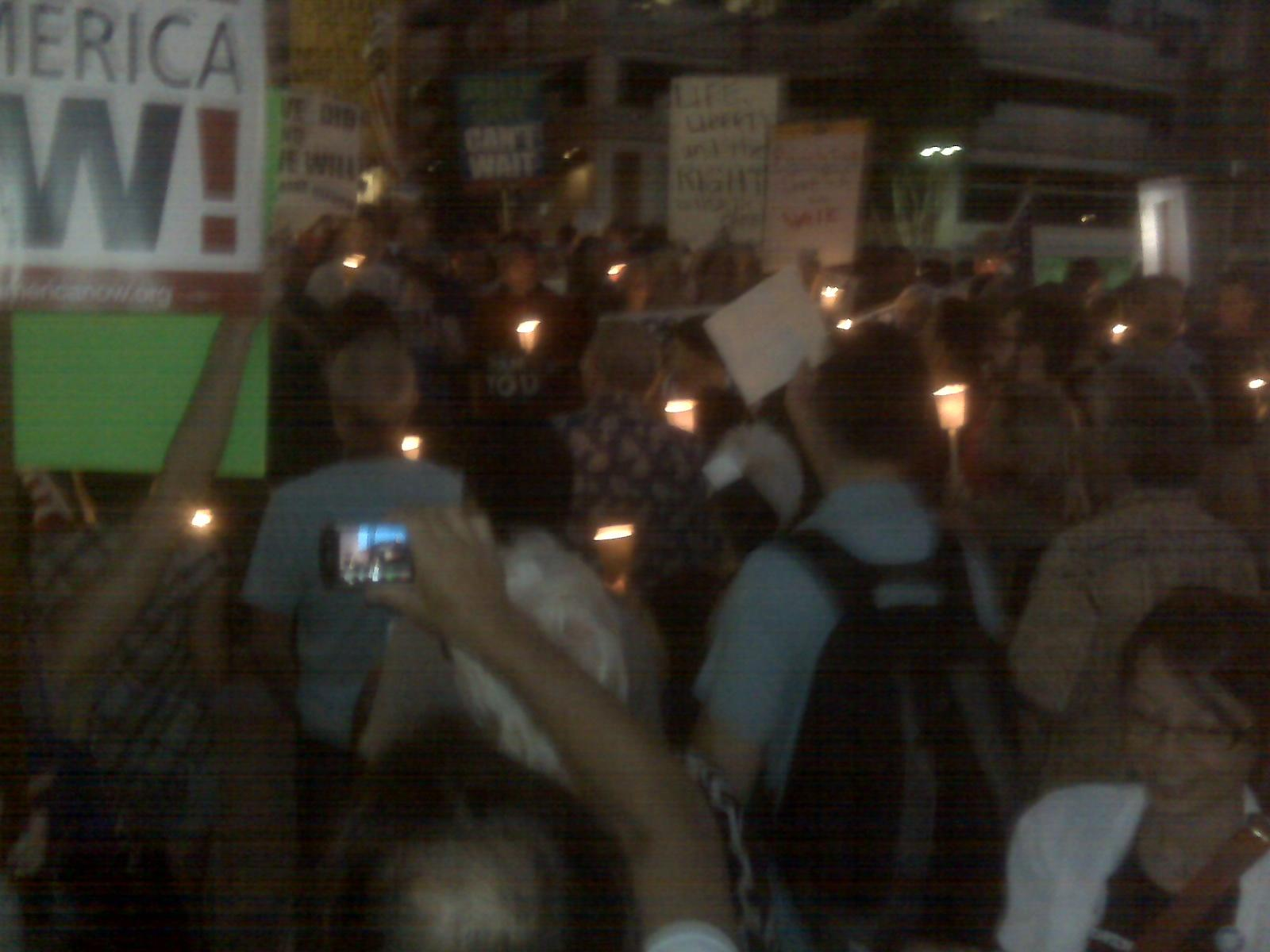 Los Angeles Protest For Public Option